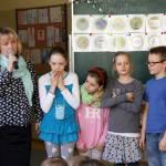 Pani Gabriela Kowalska  na uroczystym rozdaniu odznak
